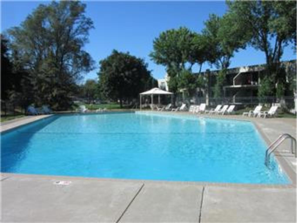 Another view of the outdoor pool.