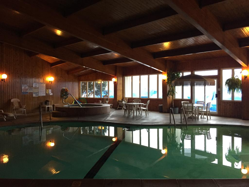 The indoor pool, this has doors that lead to sauna and workout area