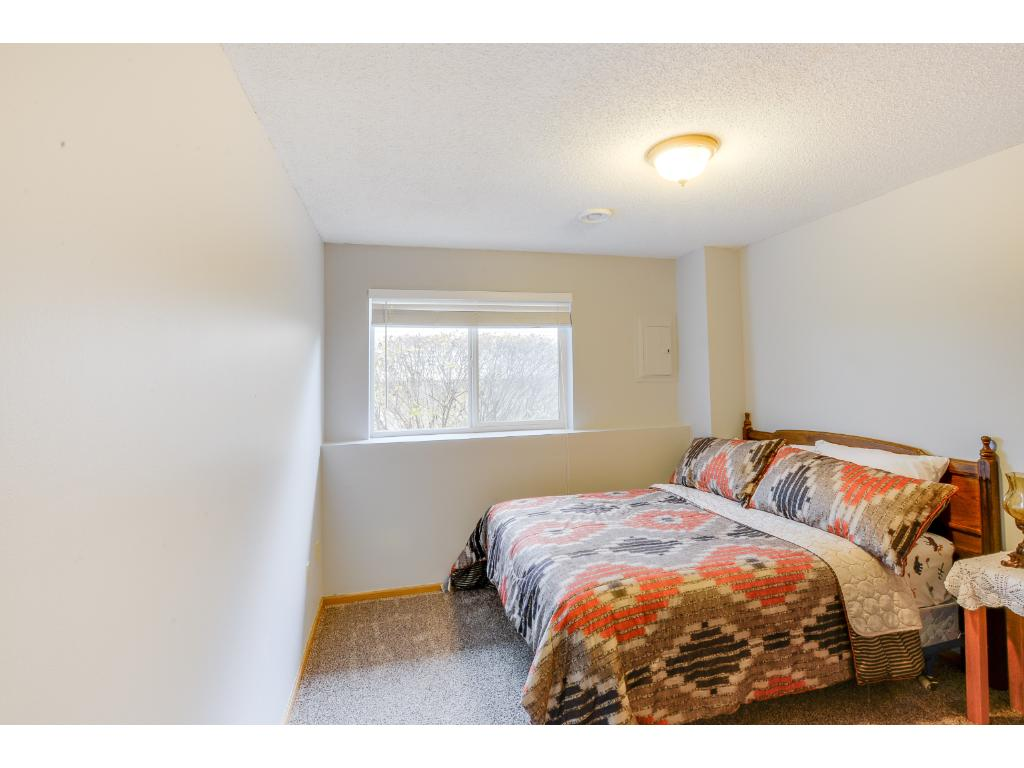 One of two bedrooms located on the lower level!