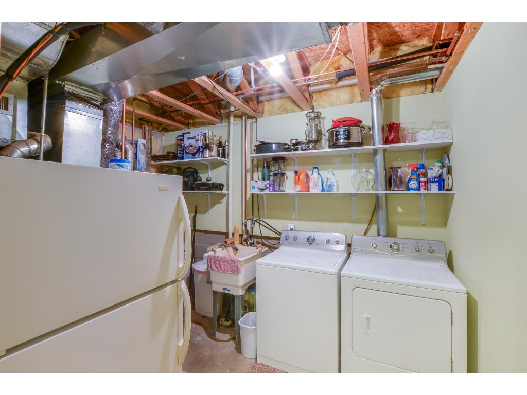 Laundry located on the lower level