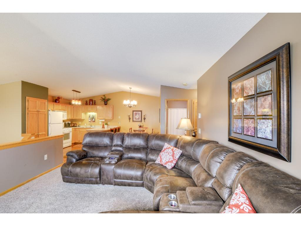 Open concept layout on the upper level! Great layout for entertaining guests!