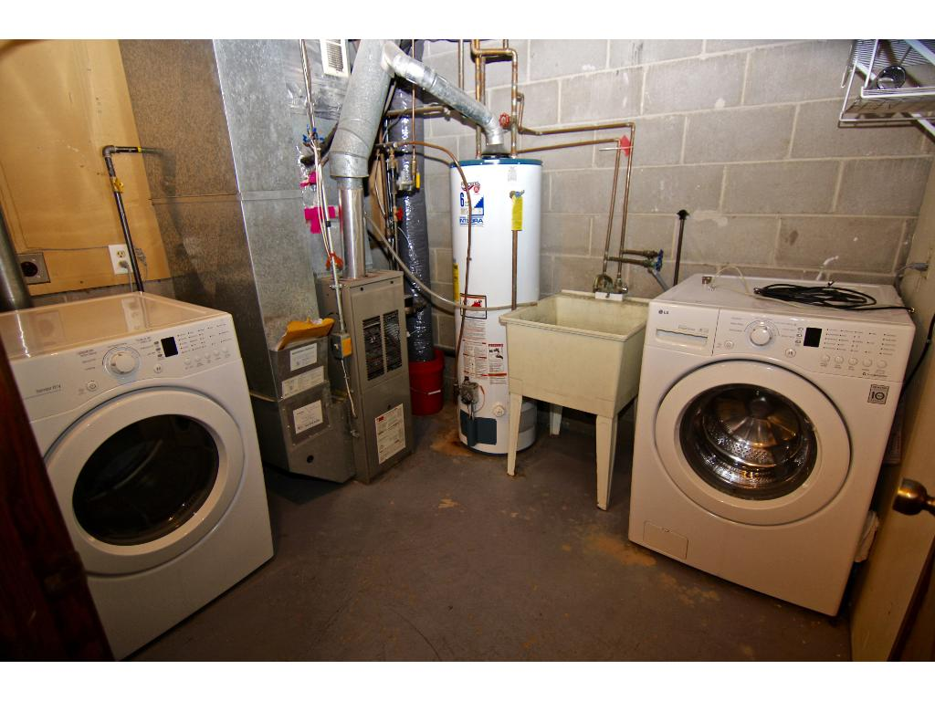 Utility/laundry room, located off the family room in the lower level.