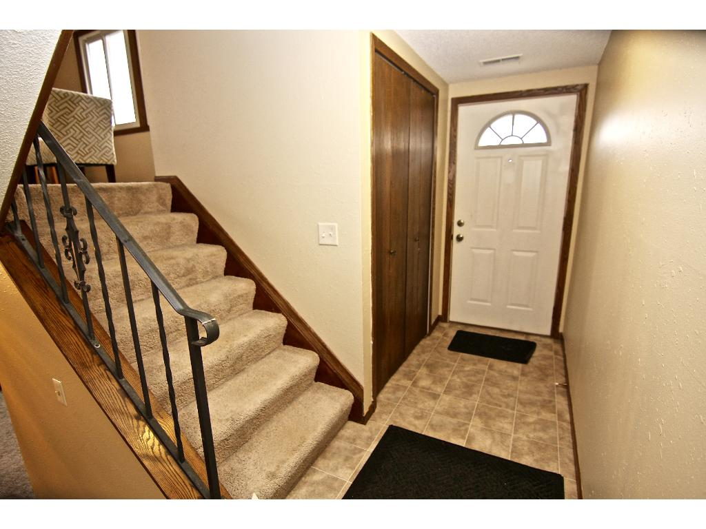 Convenient entry/foyer with large closet.