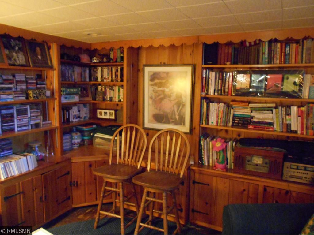 Lower Level Recreation Room has lots of built-ins.