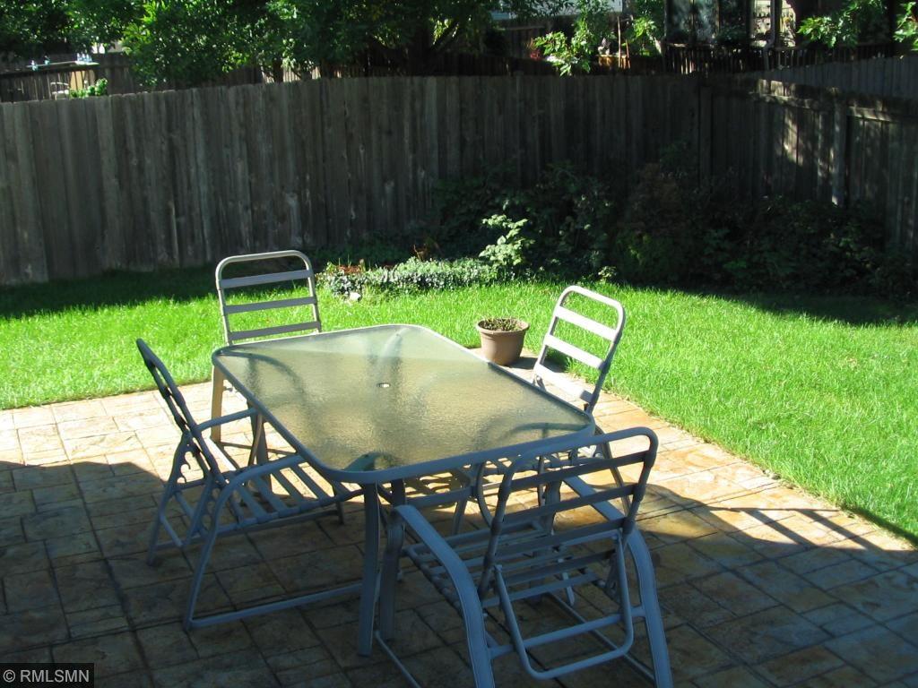 Corner garden area in rear yard.