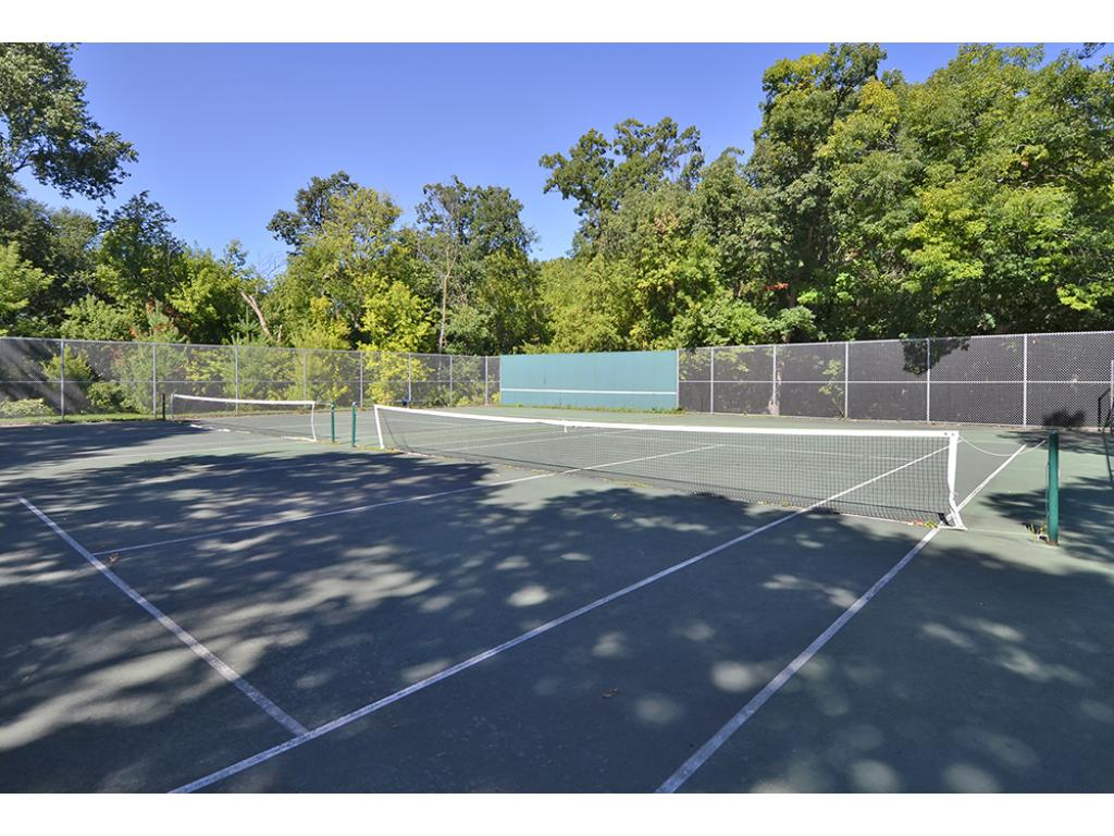 Neighborhood Tennis Courts are right out your front door!
