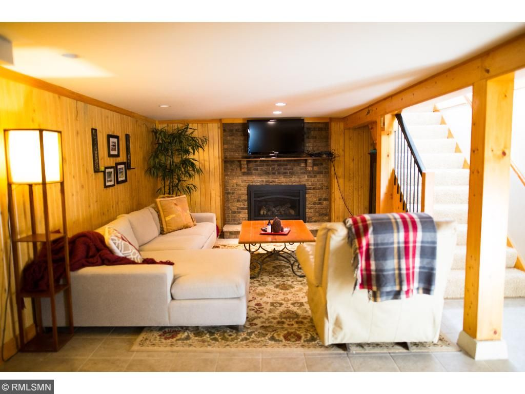 Cozy Finished Basement with Fireplace