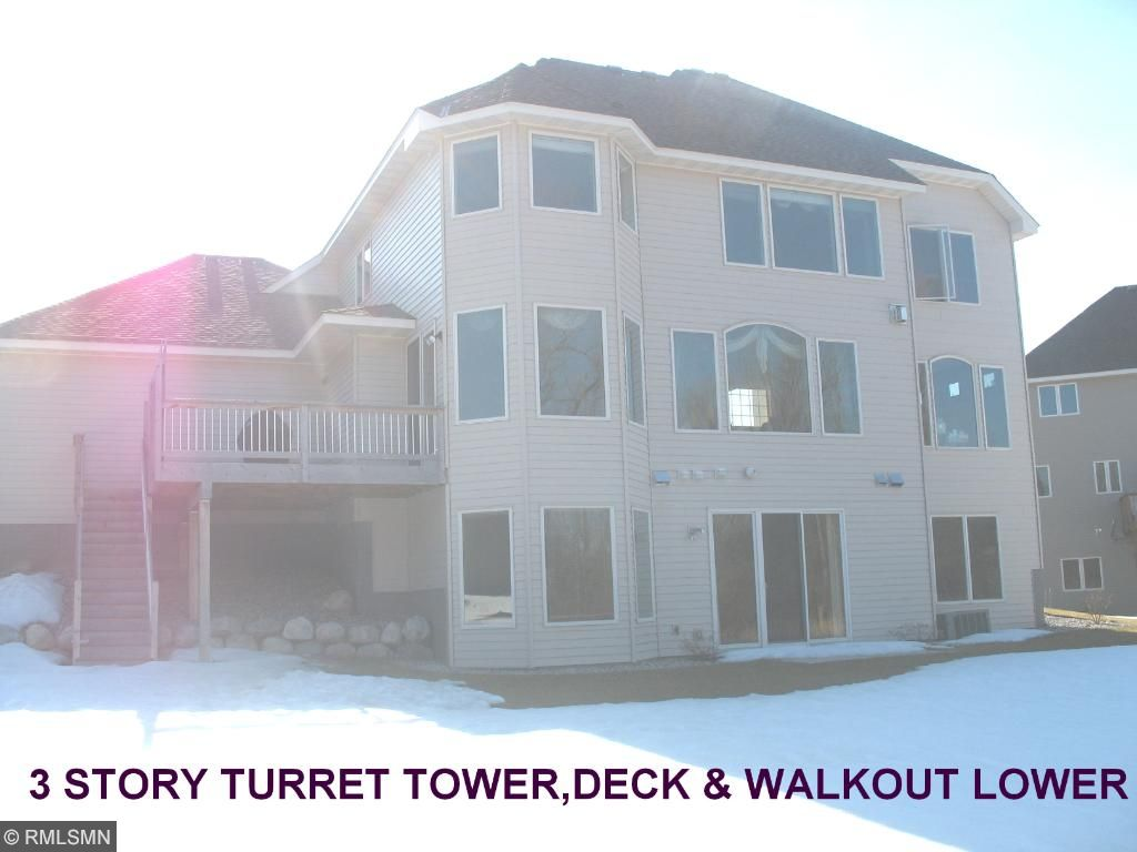 rare 3 level turret tower. with LL walkout
