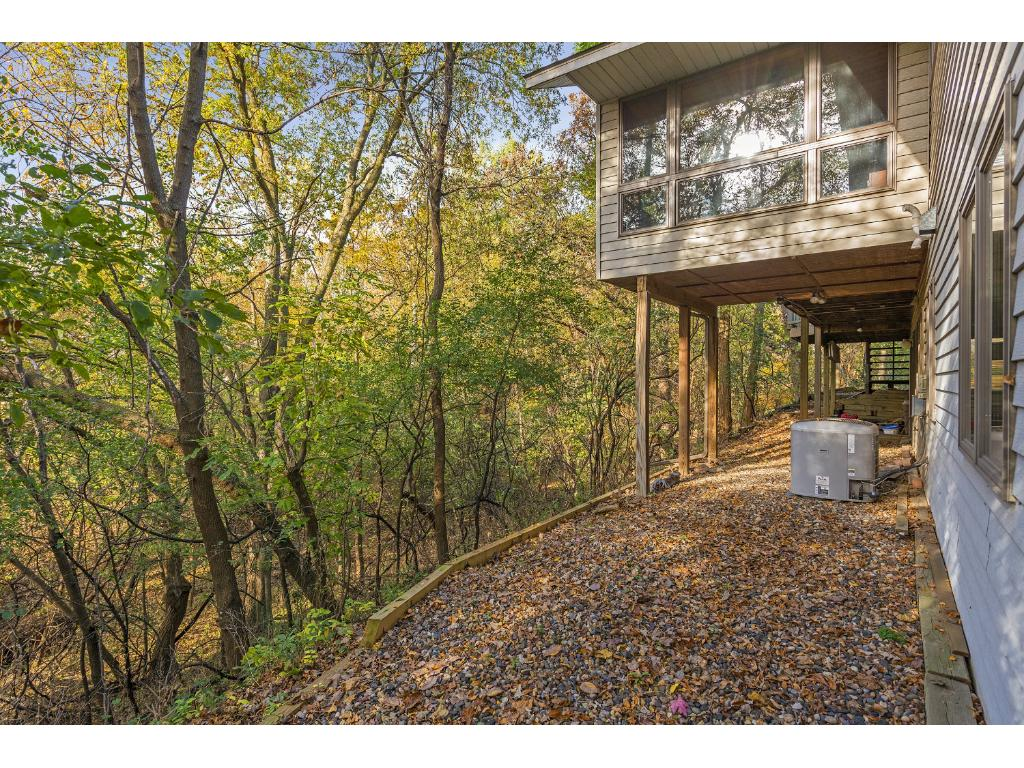 Wonderful treetop views of the gorgeous wooded lot