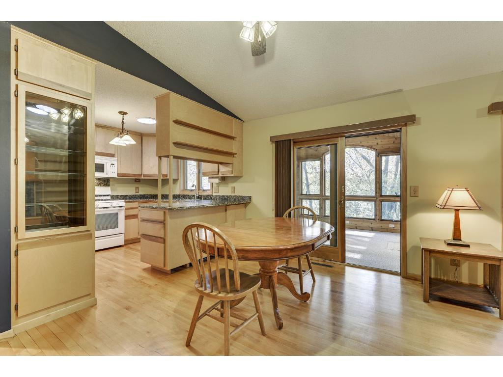 Dining area with walkout to Porch & Deck
