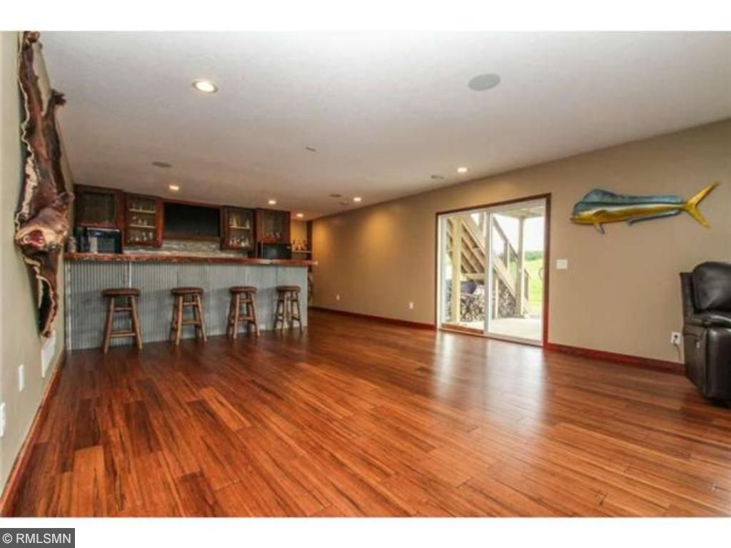 Newly finished family room is great for entertaining.