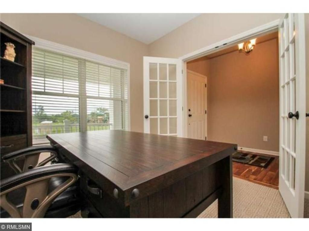Private office with french doors.
