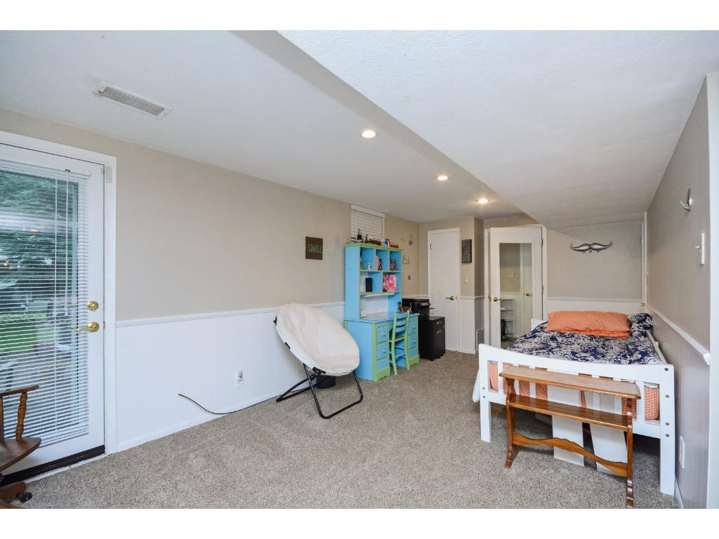 Large Walkout Level 4th Bedroom with a Big Sitting Room