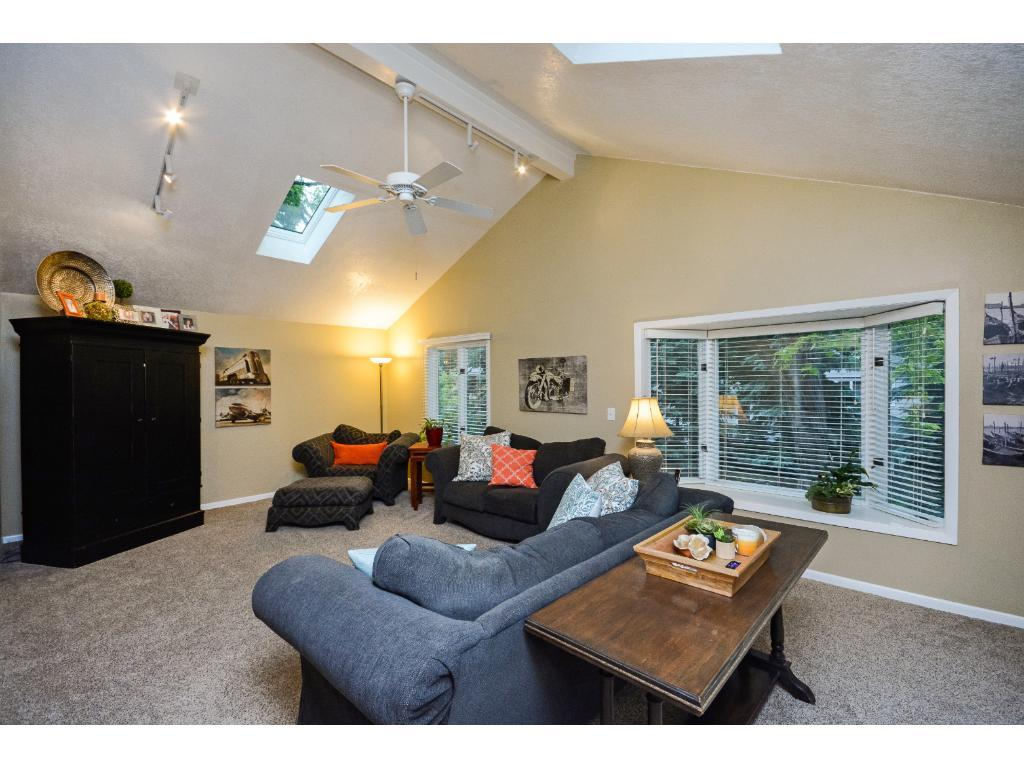 Newer Vaulted Large Main Floor Family Room
