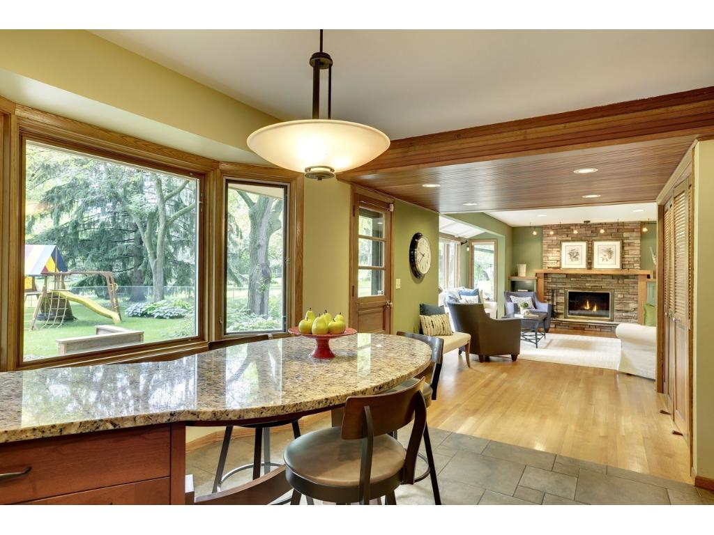 Great spaces for entertaining family and friends