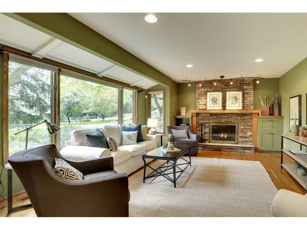 First floor family room off the kitchen.  Lovely views of the back yard.