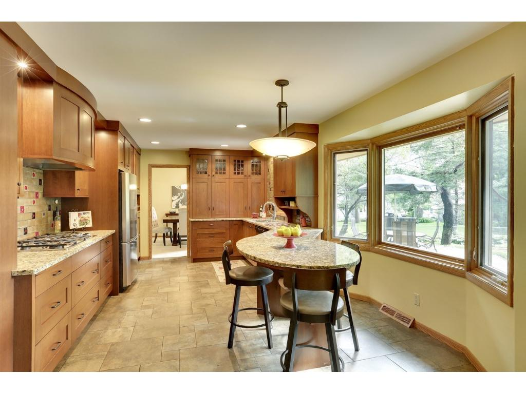 Newer custom kitchen with stainless appliances