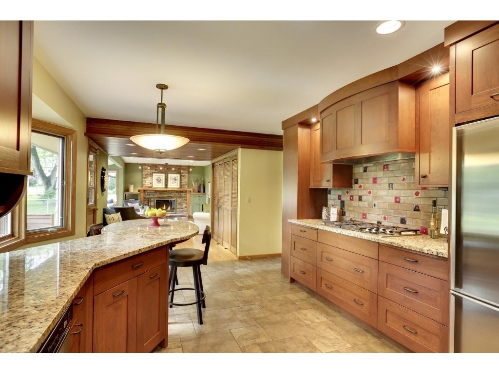 Kitchen opens to the fist floor family room