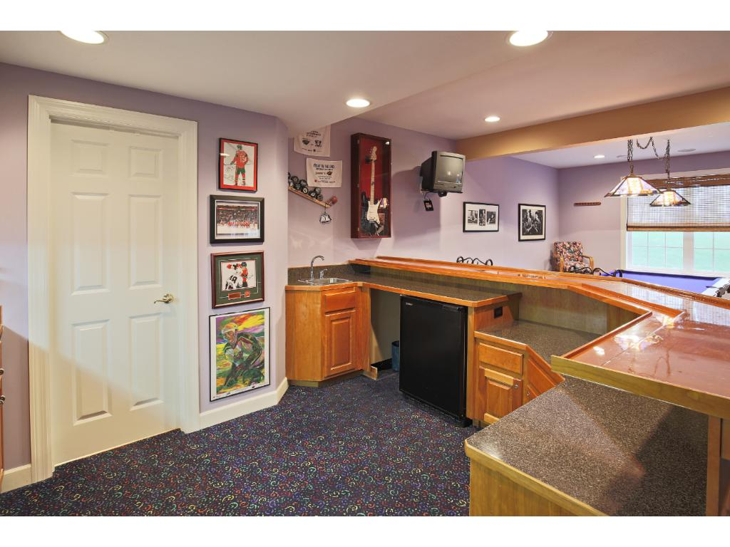 Wet bar game room and 3/4 bath.