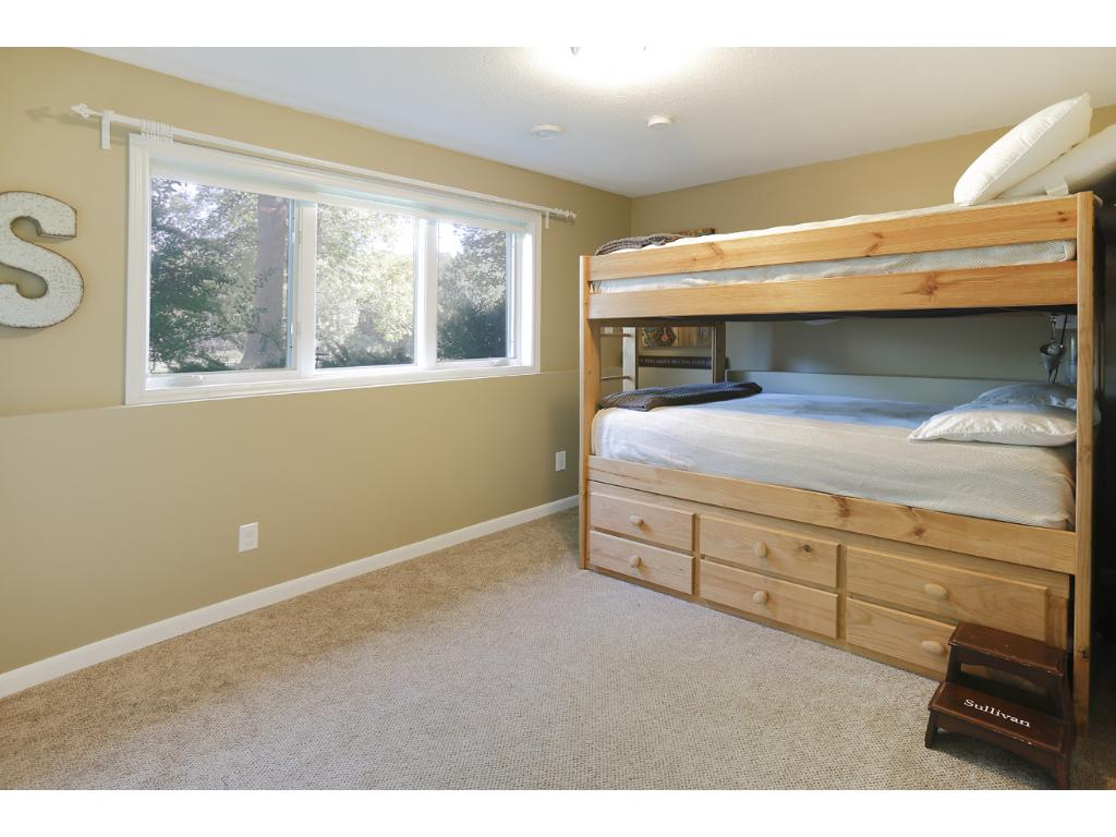 The 3rd bedroom on the lower level.