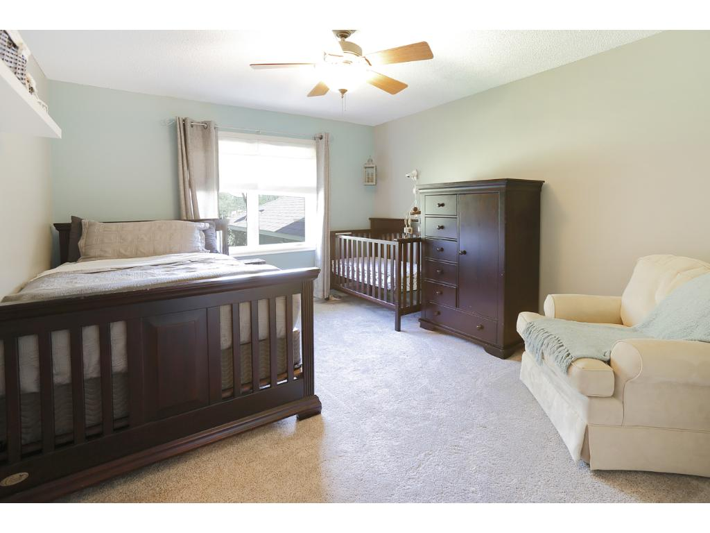 The second bedroom on the main level is spacious.