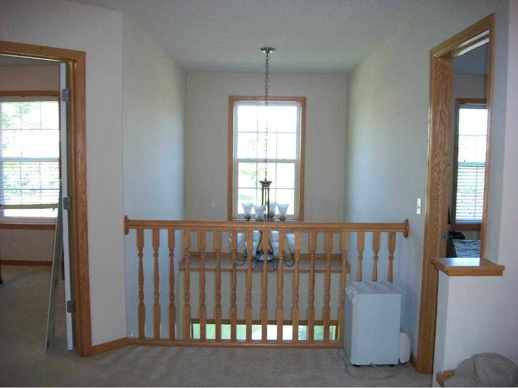 Two story Entry Hall from 2nd floor hall.