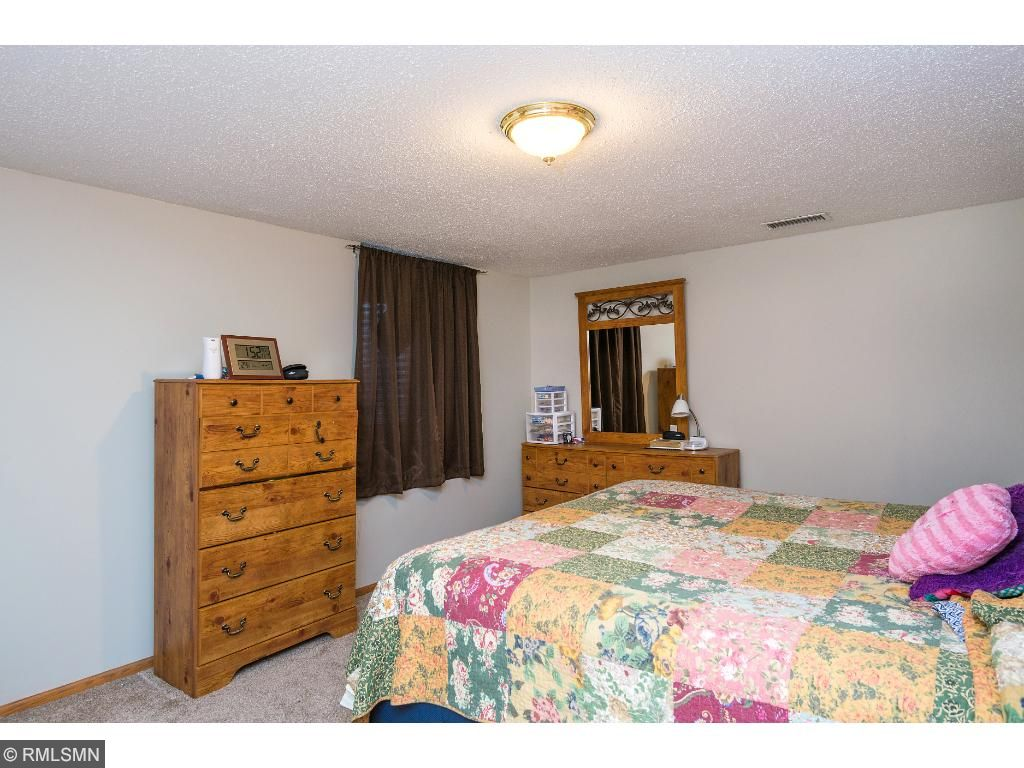 Big lower level bedroom being used as a second master bedroom