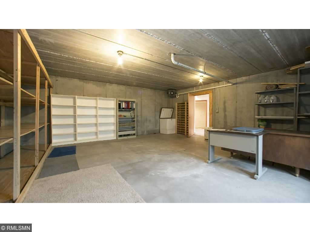 Heated Storage Room.  Bring in the hockey nets!