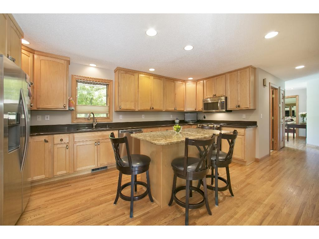 Updated Kitchen with Granite and Stainless Steel Appliances