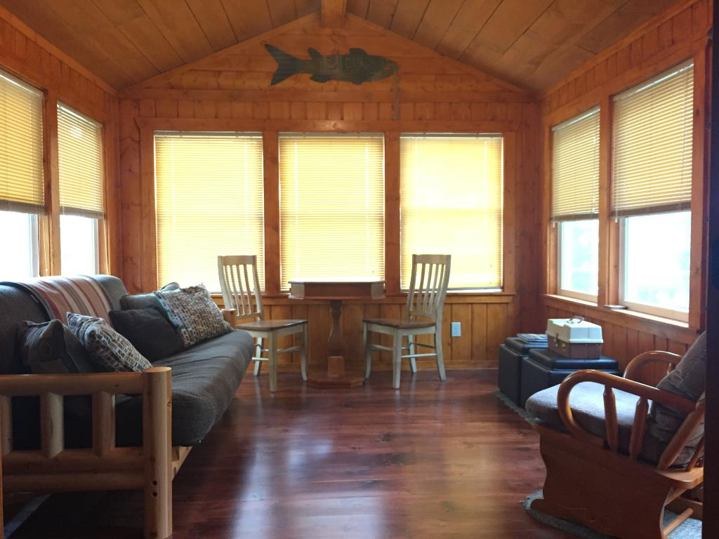 New three season porch with great views