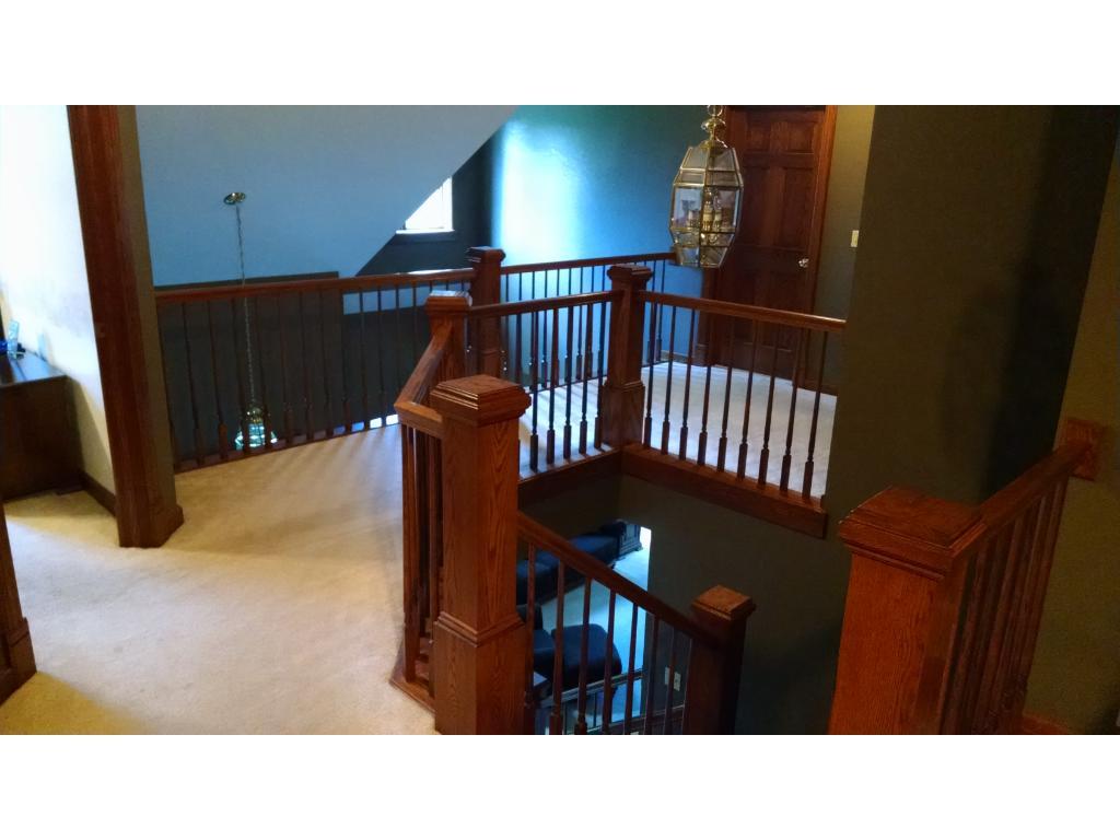 Upper Walkway off the Loft Area and Upper Rooms overlooking lower level.