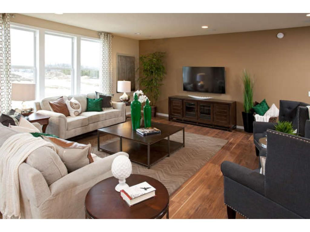 Photo of a Model - Amberwood Living Room with plenty of natural light!