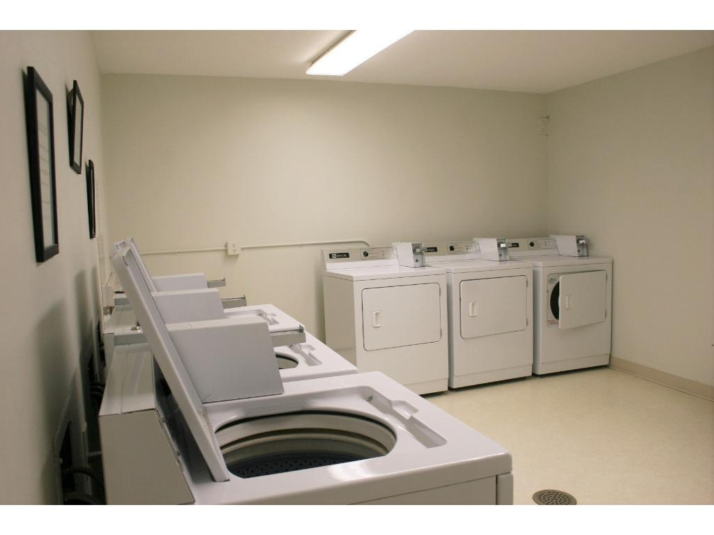 Bright and clean laundry facilities!