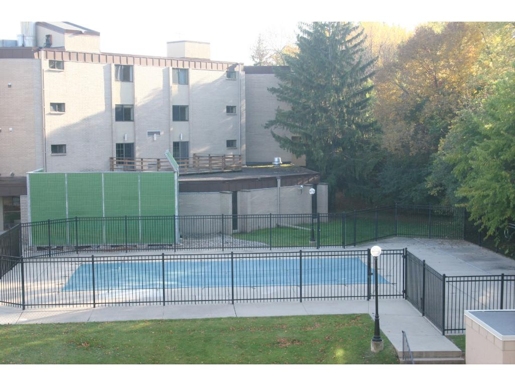 Outdoor pool for summer fun...and don't miss the tennis courts too!