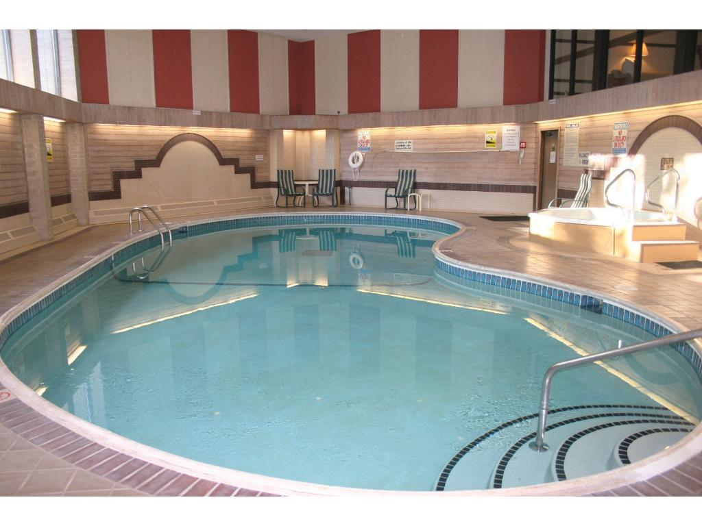 Year-round swimming available indoors.  Relax in the hot tub and sauna too.