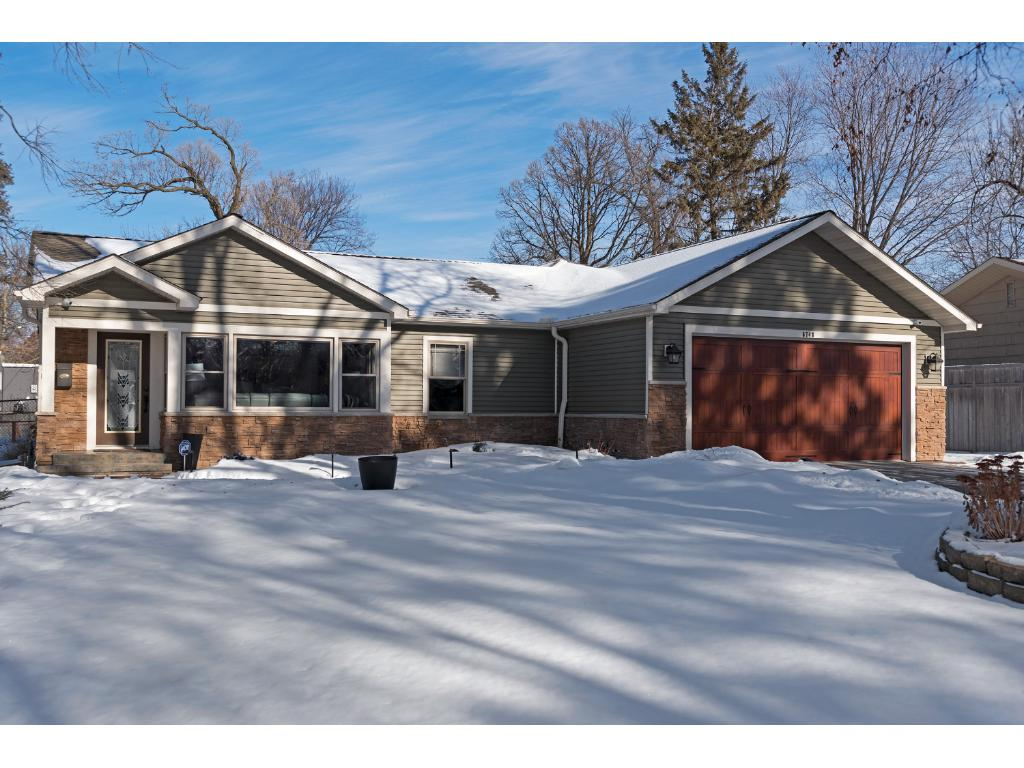 Welcome Home! Maintenance free siding architectural shingles colored and st&ed concrete walkway w & 6748 Plymouth Avenue N Golden Valley MN 55427 | MLS: 4905122 ...