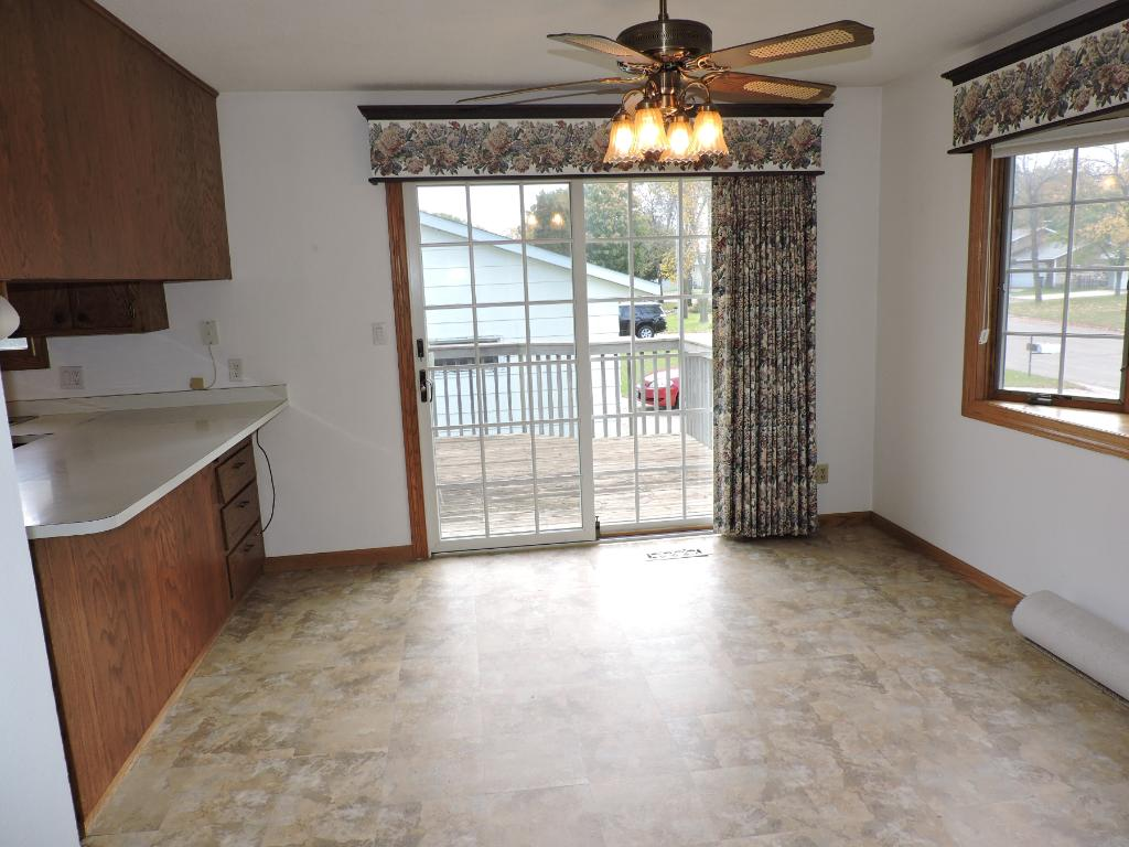 Dining Room w/sliding glass doors to the deck.