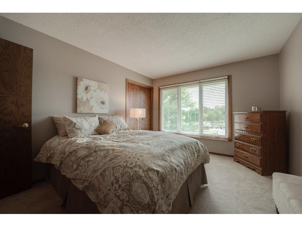 Bedroom 2 is spacious and also has fantastic views of the lake