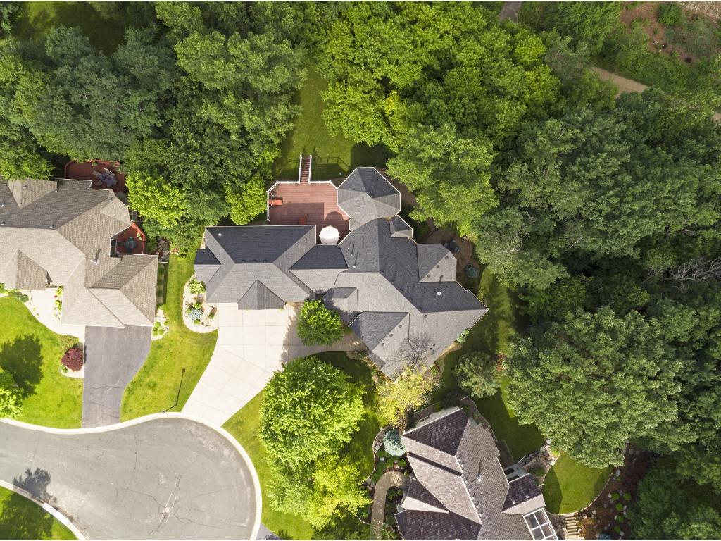 This will give you an idea of the lot.  There is a walking trail behind the home that goes from Hopkins to Chaska.  There are also plenty of trees to provide privacy.