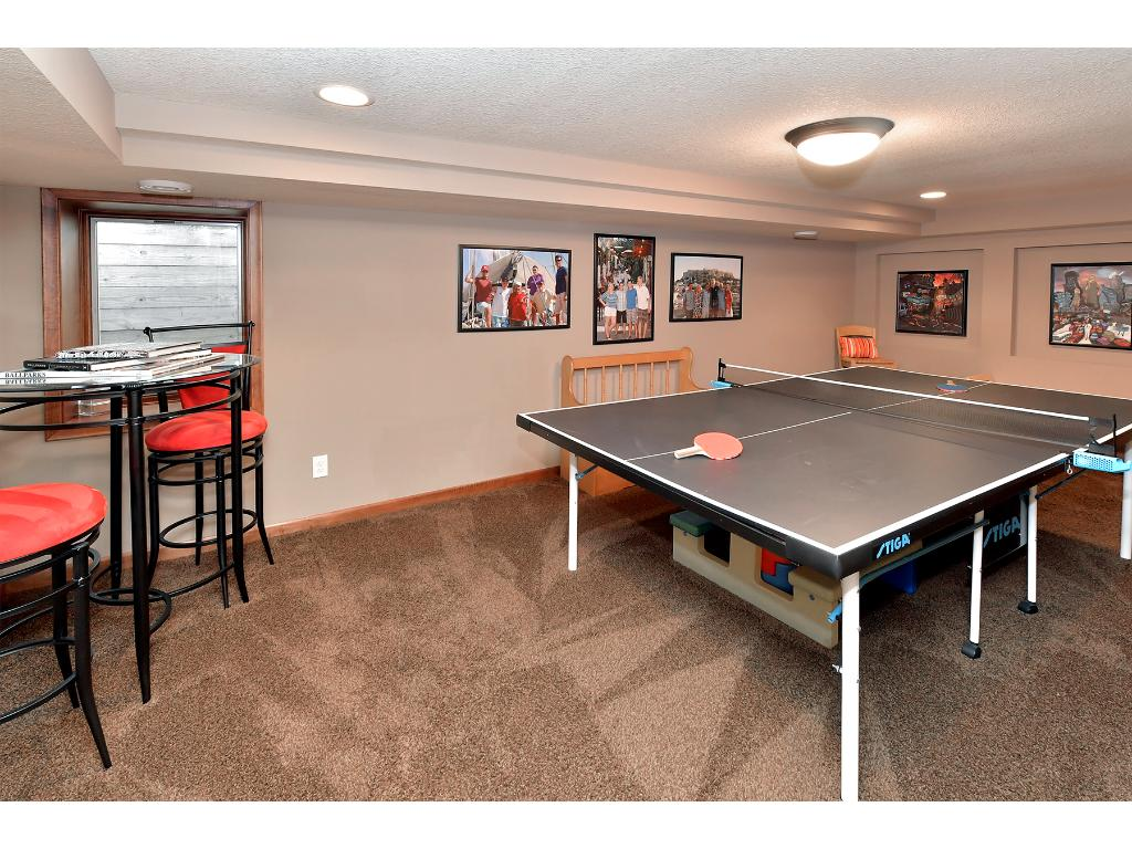 There is a wonderful gaming room just off the family room in the lower level.