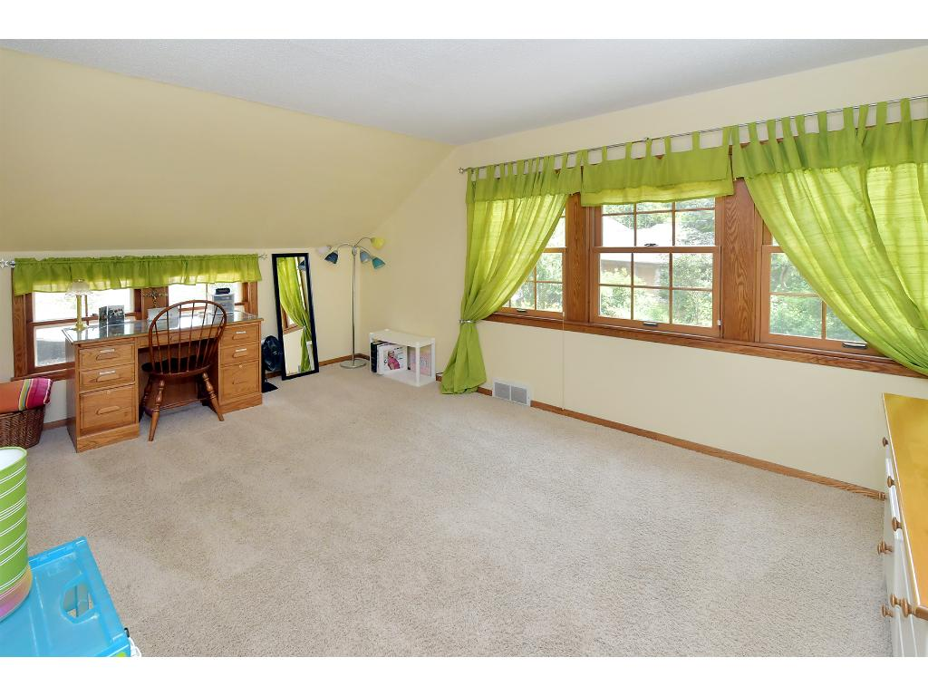 This is one of the four spacious bedrooms on the upper level.  All of which were freshly painted!