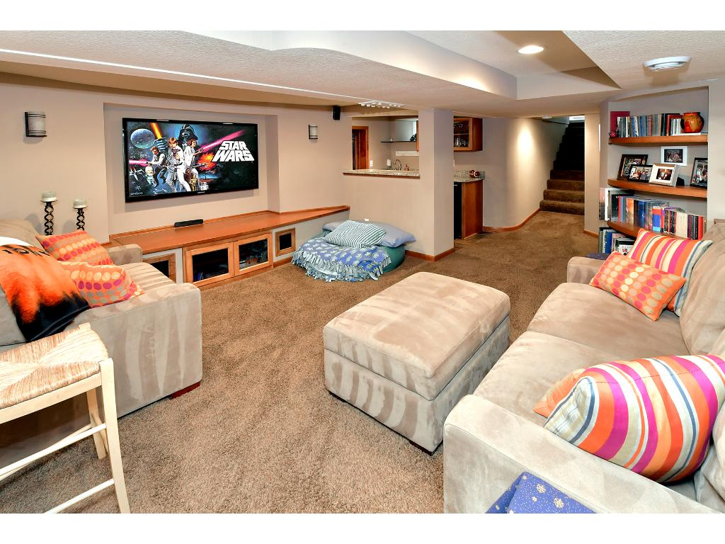 The sellers finished off the lower level of this home.  The family room is another great entertaining space in this home!