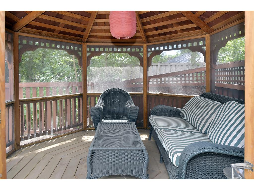 This gazebo was built in 2006 and a wonderful addition to the outdoor space.