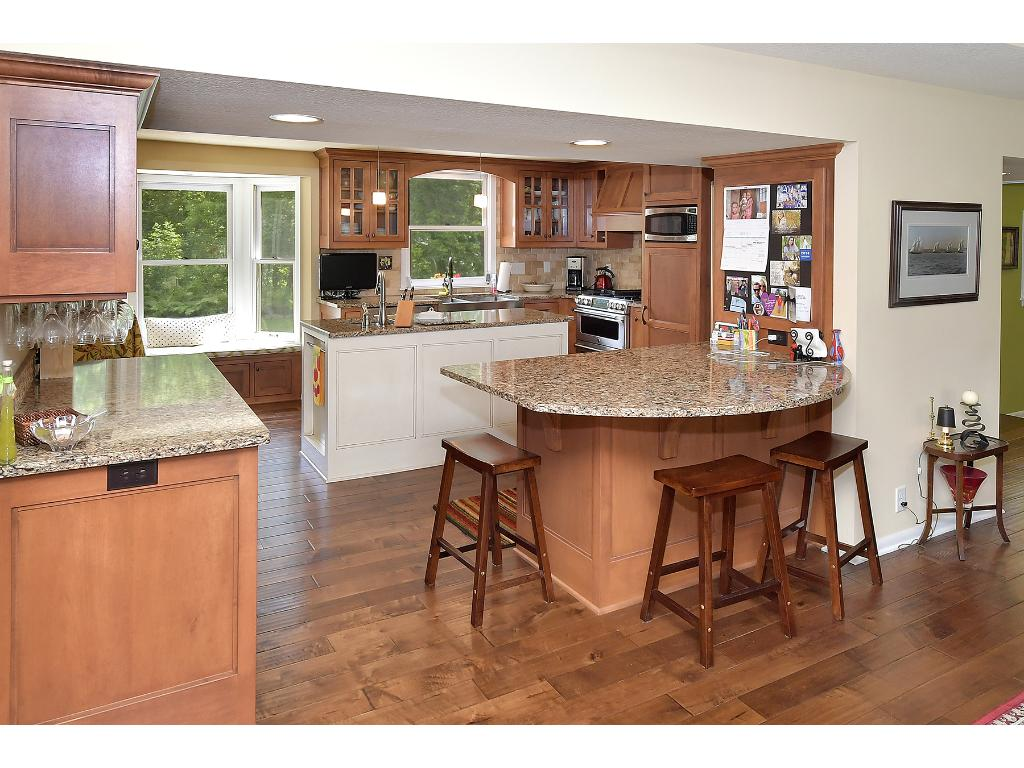 The kitchen is bright and spacious and has been fully remodeled in 2013 with high end finishes!