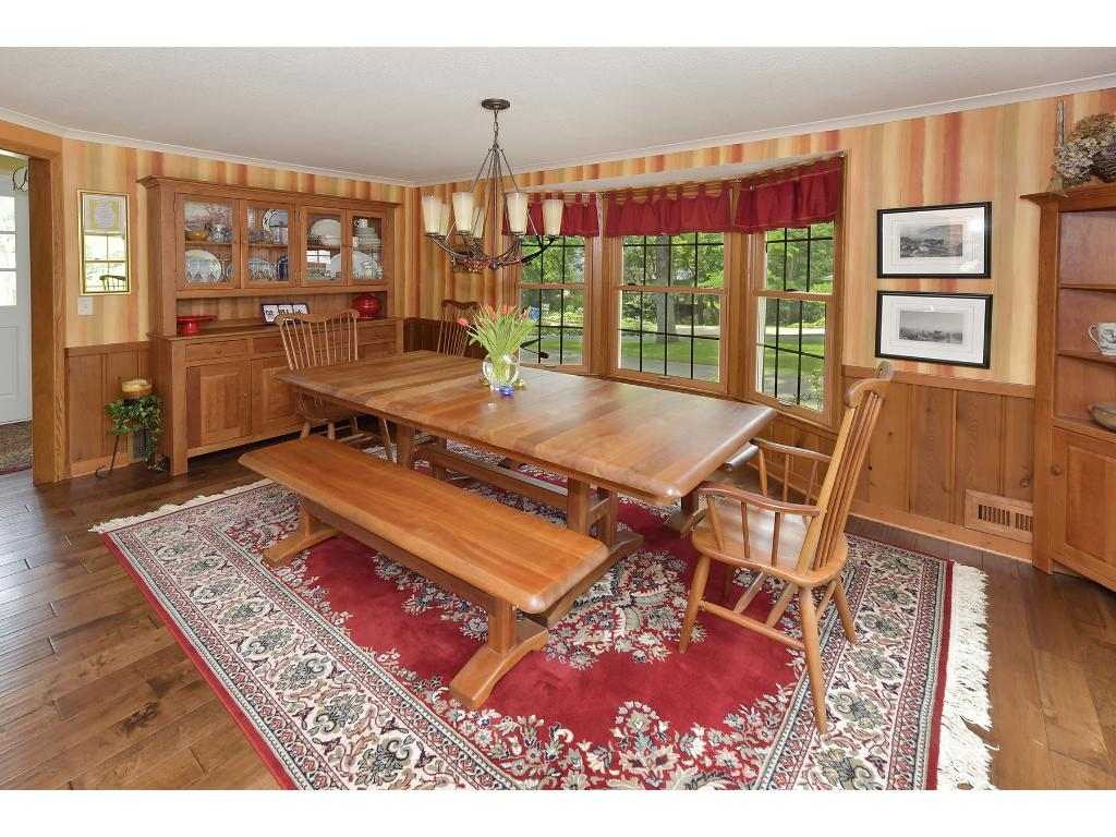 The formal dining room is incredibly spacious.  Imagine your next Thanksgiving Dinner here, certainly room for all!