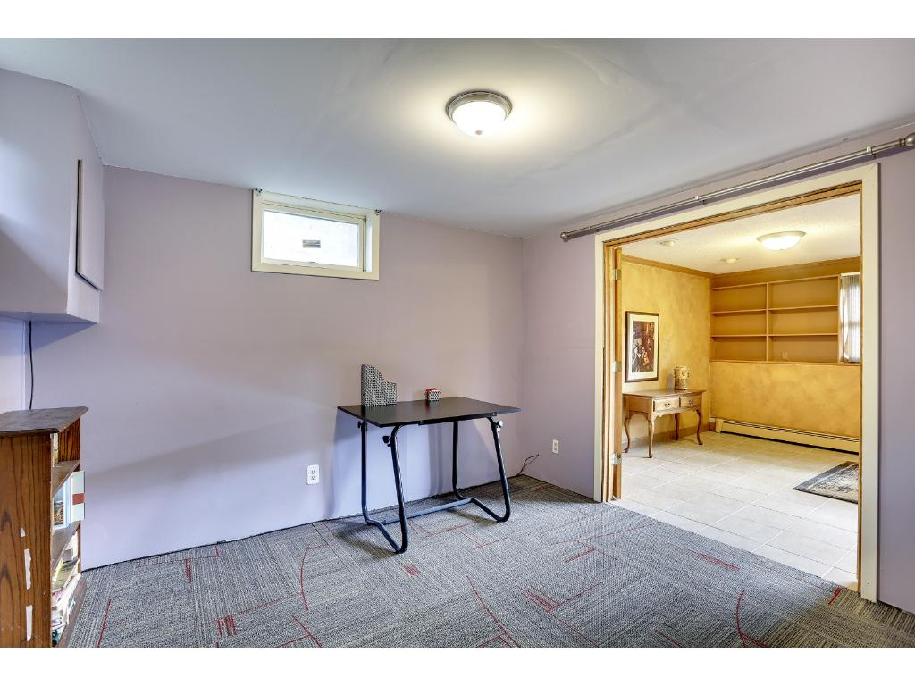 Lower level office right off the Family Room with French doors