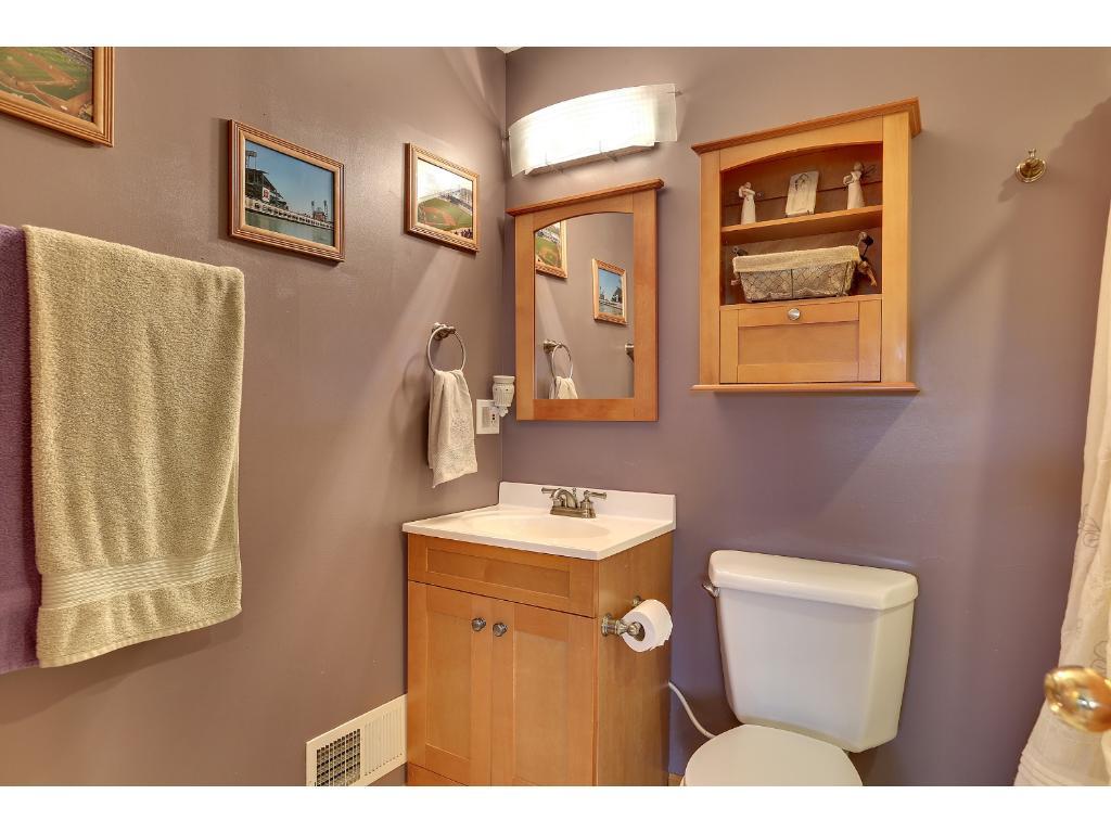 3/4 bathroom on 3rd level.