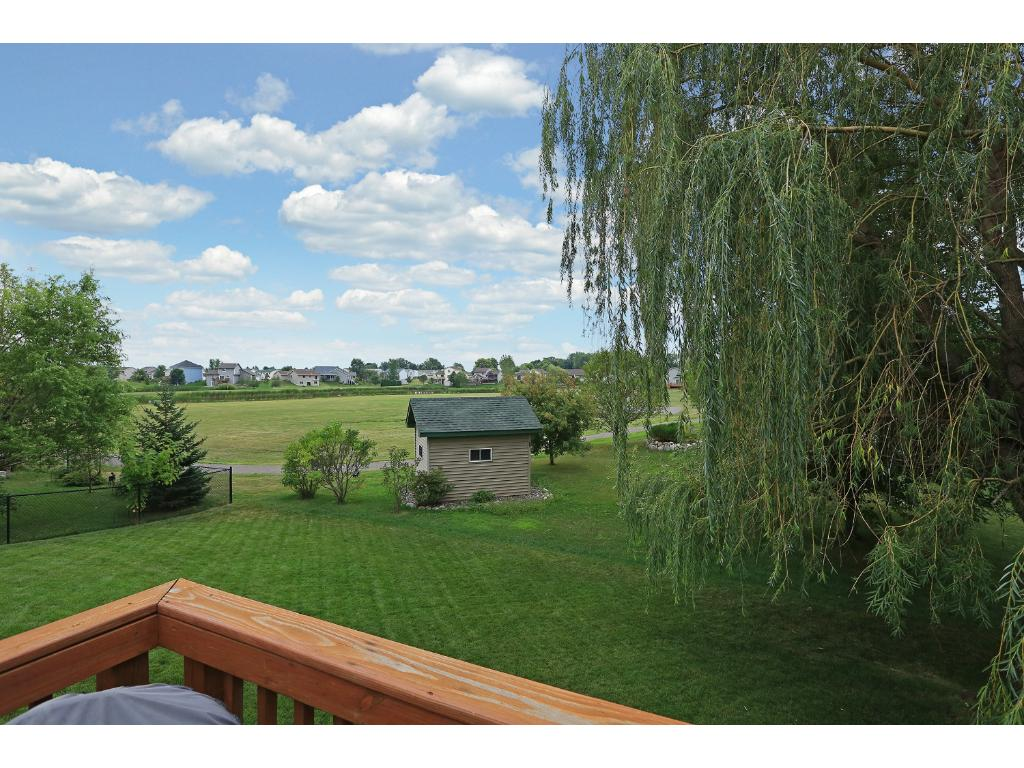 View from deck off back of house. Note the lot of this home backs up to a HUGE city park!