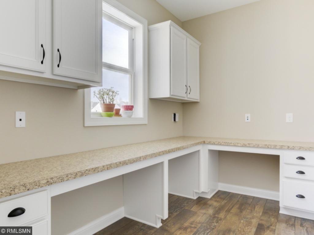 Nook off the kitchen for homework or work station