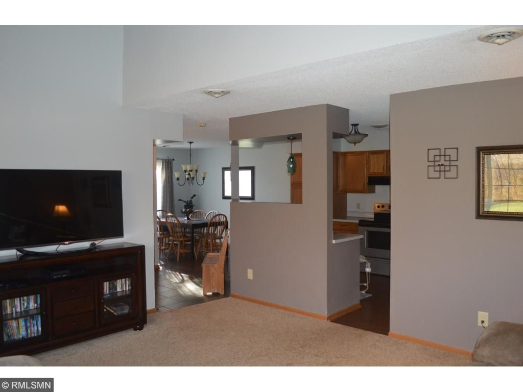 Great kitchen with hardwood and new appliances.